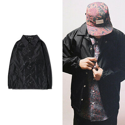 New Fashion Brand Men's Hip-Hop Jackets Coats Solid Color Windbreaker Blank