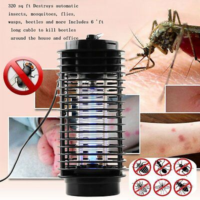 110V/220V Electric Mosquito Fly Bug Insect Zapper Killer With Trap Lamp Black RE