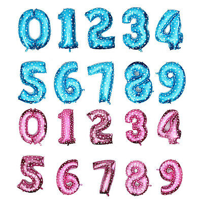Useful Large Number 0 to 9 Foil Giant Birthday Wedding Party Balloon Decor OZ