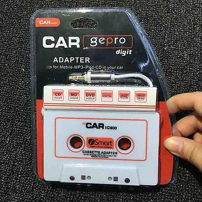 New Car Tape Cassette to 3.5mm AUX Audio Adapter for iPhone iPod MP3 Player JJ