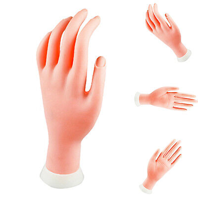 Practice Movable Fake Hand Model for Nail Art Training Display Manicure Tool Hot