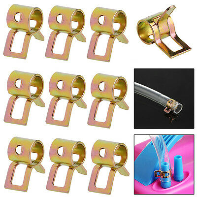Hot 50Pcs 5mm Spring Clip Fuel Line Hose Water Pipe Air Tube Clamps Fastener