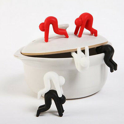 2pcs Silicone Pot Spill-proof Cute Heat Resistant Lid Kitchen Tools Holder Hot