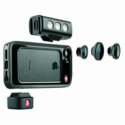 Manfrotto KLYP Bumper, SMT LED Light and Set of 3 Lens for iPhone 5/5S