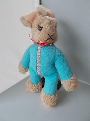 Vintage RARE STEIFF Cute RABBIT on Standwith Button in Ear Plush Soft Toy German
