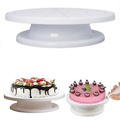 """Rotating Revolving Plate Decorating Cake Turntable Kitchen Display Stand 11"""""""