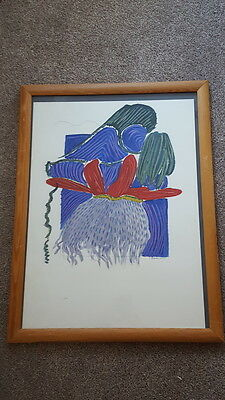 Original Modern Art Abstract Signed V Constantine Dated 1993 Decorative Picture