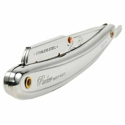 Parker 31R Stainless Steel Shavette Razor (SR1) + 100 Derby Single Edge Blades