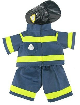 """Fireman Firefighter with hat Outfit clothing to fit 15"""" Build a Bear"""