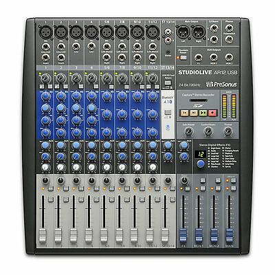 Presonus StudioLive AR12 USB Analog Mixer & Digital Recording  Mixing Desk