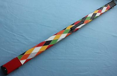 One Piece Patchwork Snooker Cue Case With 2 Slots