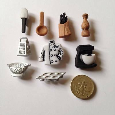 Master Chef Culinary Cooking Baking Kitchen Novelty Buttons