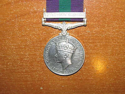 British General Service Medal Bar Palestine 1945-48 Royal Warwickshire Regiment