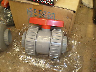63mm  Solvent Weld Ball Valve Double Union PVC Equivalent ABS