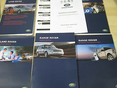 Range Rover L322  Handbook  Owners Manual 2005-2009 Navigation ,service Book New