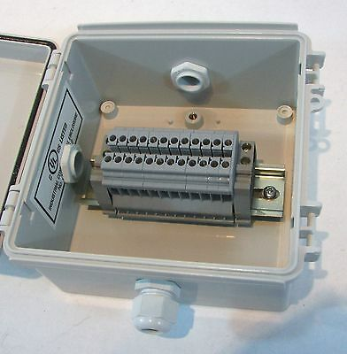 Electrical Junction Box with Terminal Blocks - Waterproof Enclosure - NEMA 4X