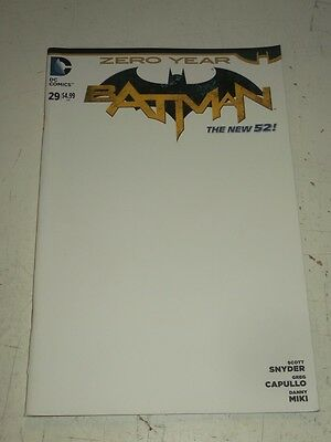 Batman #29 Dc Comics New 52 Blank Variant Nm (9.4)