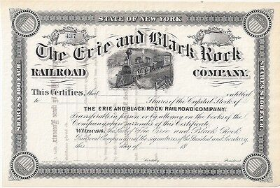 The Erie And Black Rock Railroad Company.....1800's Unissued Stock Certificate