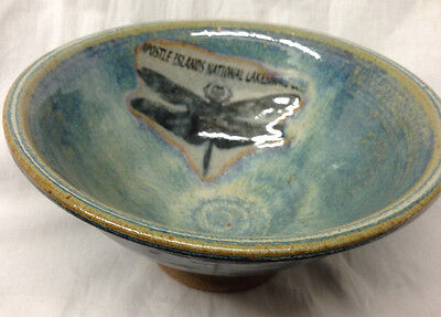 Apostle Islands National Lakeshore Wisconsin Wi Handcrafted Bowl Dragonfly Apple