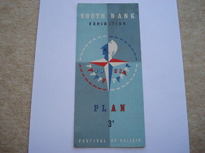 1951 Festival Of Britain 3D Plan Of The South Bank Exhibition