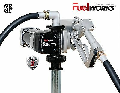 NEW Fuelworks12V 15GPM Explosion Proof Fuel Transfer Pump Kit by Fuelworks