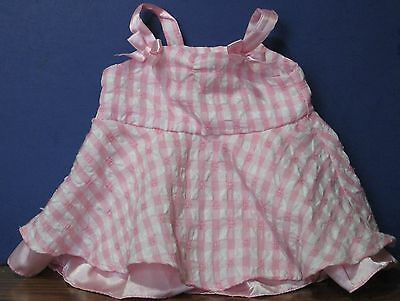 """Build a Bear Workshop Pink and White Checkered Country Dress - 9"""""""
