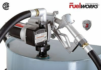FUELWORKS 12-Volts 20GPM Explosion-Proof Fuel Transfer Pump Kit with 14' Hose