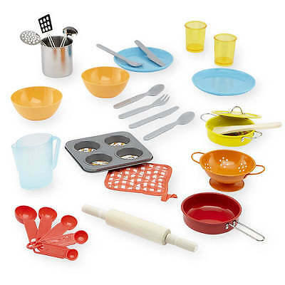 NEW Just Like Home SUPER Chef Set 30 Piece Play Dishes Kitchen Cookware Pans Pot