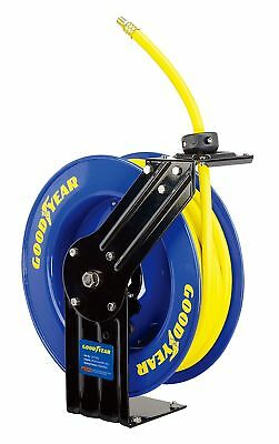 "GOODYEAR Steel Retractable Air Compressor/Water Hose Reel 3/8"" X 50 ft. 300PSI"