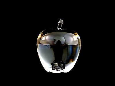 Steuben Crystal Glass Apple Fruit Paperweight Figurine