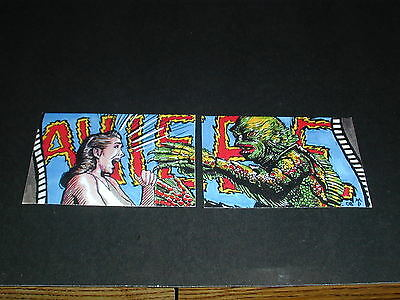 Creature From The Black Lagoon Atrists Sketching's 2 Non Sport Cards