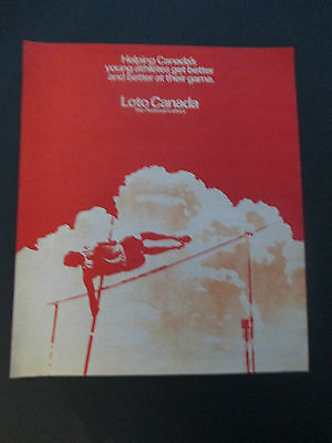 """Vintage 1978 Loto Canada Lottery Olympic Print Ad, 12.125"""" X 10.25"""""""