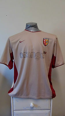 RC Lens Home Football Shirt Jersey 2002-2003 Large 42/44