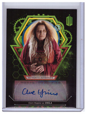 2016 Topps Doctor Who Extraterrestrial Auto CLARE HIGGINS Ohila AUTOGRAPH 32/50