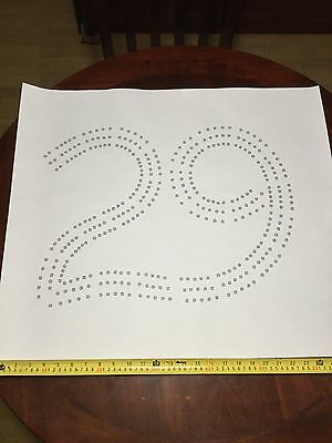 Large 29 Cribbage Board Hole Pattern Paper Template