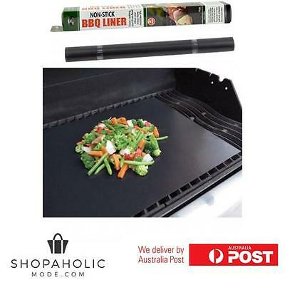 2 x Nonstick Teflon BBQ Cooking Liner Sheet Reusable 40x 50 cm