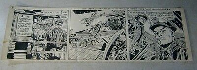 TERRY AND THE PIRATES original comic strip art 1957 WUNDER, STUNNING JET PLANES