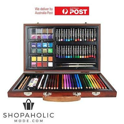 Art Box Wooden Set for Colouring Painting Drawing 88 Piece