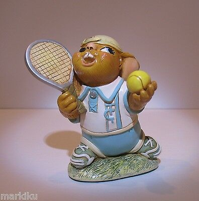 NEW Pendelfin Ace tennis player figurine rabbit Bunny w/ Box