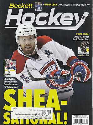 Beckett Hockey Card Monthly Price Guide Jan 2017 Shea Weber Cover