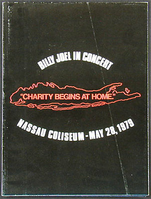 Billy Joel ORIGINAL 1979 Nassau Coliseum Concert Program Charity Begins at Home