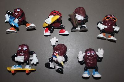 """Lot 7 California Raison Figurines All Different Approx 2"""" 1988"""