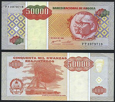 Angola P138***50000 Kwanzas***nd 1995***aunc Gem***look Super Scan