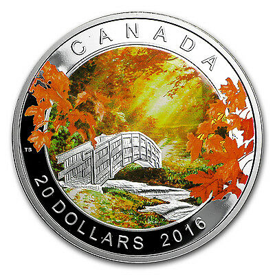 2016 1 oz Proof Silver $20 Autumn Tranquility - SKU #104599