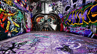 banksy v  star wars CANVAS ART GRAFFITI  LIMITED PRINT
