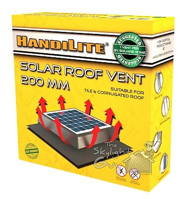 Solar Roof Vent 200mm -Whirlybird Substitute
