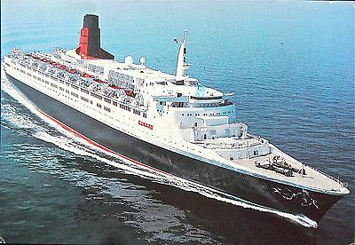 Postcard:q.e.2 150Th Anniversary Voyage 1990.'posted On The High Seas'good Marks