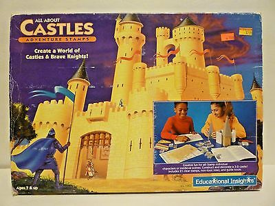 Vintage 1994 All About Castles Adventure Stamps Creativity Set NEW