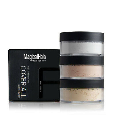 3 Color Makeup Face Loose Finishing Powder Translucent Smooth Setting Foundation