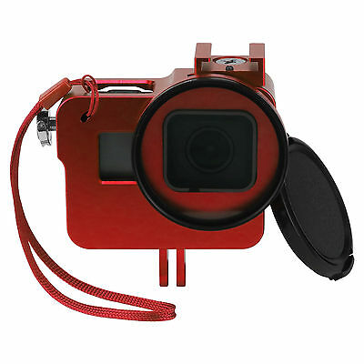 Aluminium Alloy Protective Housing Case Shell Frame For GoPro Hero 5 Camera Red